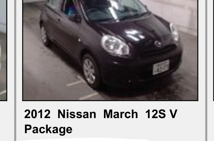 NISSAN MARCH 1,2 AUTOMATIC,MODEL 2012