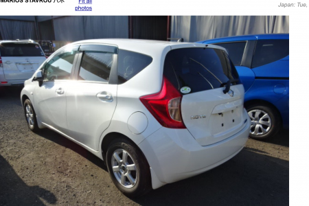 NISSAN NOTE 1,2 MODEL 2013 AUTOMATIC